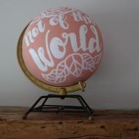 DIY Hand Lettered Globe