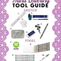 Hand Lettering Tool Guide