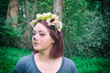 DIY Felt and Flower deer headband