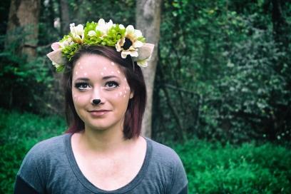 DIY Felt and Flower deer headband
