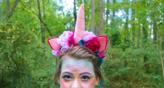 DIY Felt and flower unicorn Headband