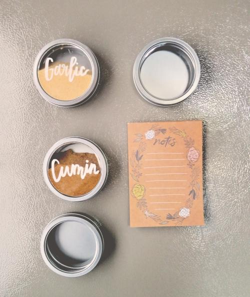 DIY Magnetic Spice Tins