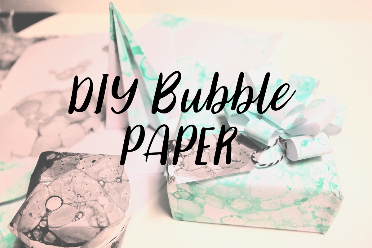 DIY Bubble Paper