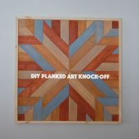 DIY Planked Quilt Art knock-off