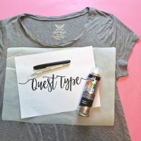 DIY T-Shirt Stencil Art