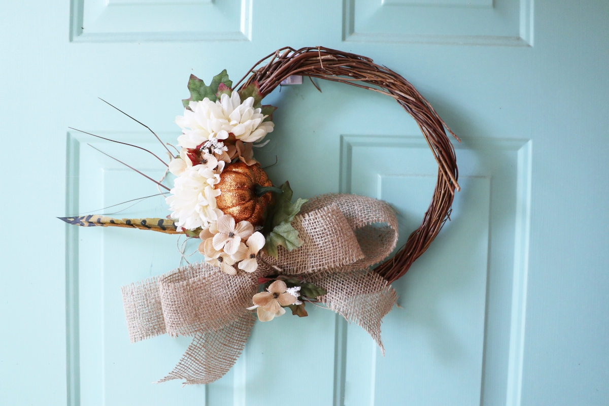 Dollar Store DIY Fall Wreath