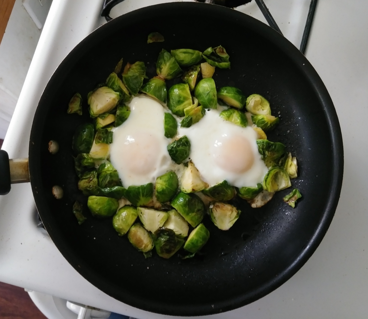 Maple Brussels Sprouts and Eggs